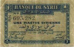 1 Piastre SYRIE  1920 P.006 TB