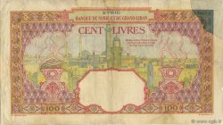 100 Livres SYRIE  1939 P.039D B