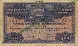 100 Livres SYRIE  1939 P.039Fa B+