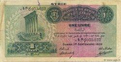 1 Livre SYRIE  1939 P.040a TTB