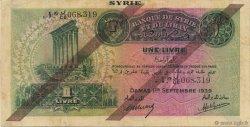 1 Livre SYRIE  1939 P.040c TTB+