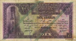 10 Livres SYRIE  1939 P.042c B