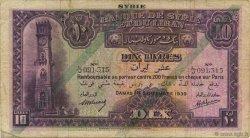 10 Livres SYRIE  1939 P.042c TB+