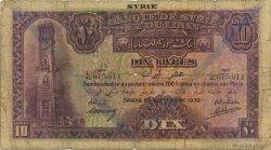 10 Livres SYRIE  1939 P.042d B