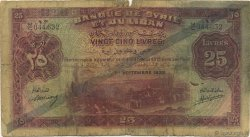 25 Livres SYRIE  1939 P.043a AB