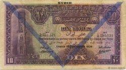 10 Livres SYRIE  1939 P.042d TB