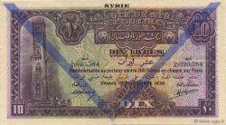 10 Livres SYRIE  1939 P.042d TTB+