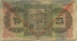 25 Livres SYRIE  1939 P.043d AB