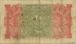25 Piastres SYRIE  1942 P.051 TB