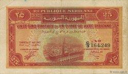 25 Piastres SYRIE  1942 P.051 TTB
