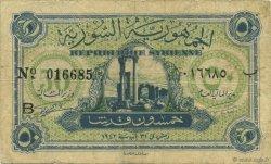 50 Piastres SYRIE  1942 P.054 TB