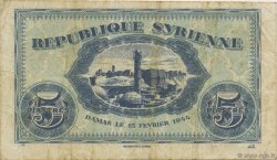 5 Piastres SYRIE  1944 P.055 TB