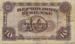 10 Piastres SYRIE  1944 P.056 TB à TTB
