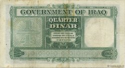 1/4 Dinar IRAK  1942 P.016 pr.TTB