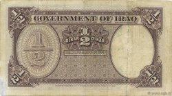 1/2 Dinar IRAK  1942 P.017 pr.TTB