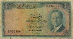 1/4 Dinar IRAK  1947 P.037 B+