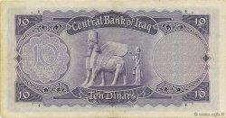 10 Dinars IRAK  1947 P.050 TTB+
