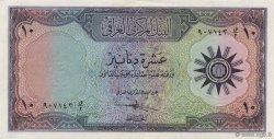 10 Dinars IRAK  1959 P.055a SPL