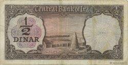 1/2 Dinar IRAK  1971 P.057 TB+