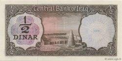 1/2 Dinar IRAK  1971 P.057 NEUF