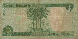 1/4 Dinar IRAK  1973 P.061 TB