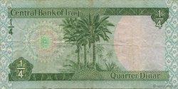 1/4 Dinar IRAK  1973 P.061 TTB