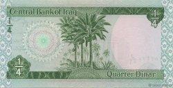1/4 Dinar IRAK  1973 P.061 NEUF