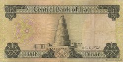 1/2 Dinar IRAK  1973 P.062 pr.TTB