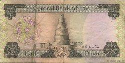 1/2 Dinar IRAK  1973 P.062 TTB