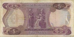 5 Dinars IRAK  1973 P.064 TTB