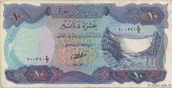 10 Dinars IRAK  1973 P.065 TTB