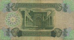 1/4 Dinar IRAK  1979 P.067a B à TB