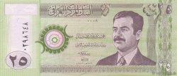 25 Dinars IRAK  2001 P.086 NEUF