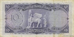 10 Dinars IRAK  1959 P.055a TTB+