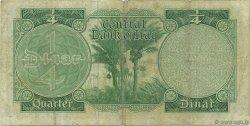 1/4 Dinar IRAK  1959 P.051b TB