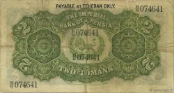 2 Tomans IRAN  1918 P.002 TB