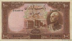 100 Rials IRAN  1937 P.036a TTB+