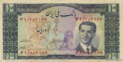 10 Rials IRAN  1953 P.059 SUP