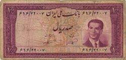 100 Rials IRAN  1953 P.062 B