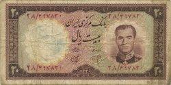 20 Rials IRAN  1961 P.072 B+