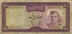 100 Rials IRAN  1971 P.091c B+
