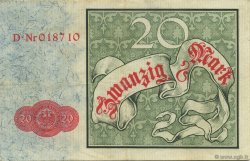 20 Mark ALLEMAGNE  1882 P.005 SUP