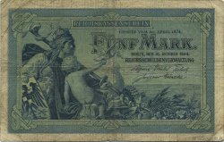 5 Mark ALLEMAGNE  1904 P.008a TB