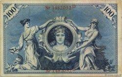 100 Mark ALLEMAGNE  1898 P.020a TTB+