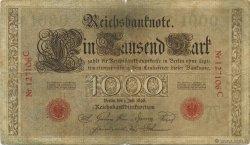 1000 Mark ALLEMAGNE  1898 P.021 B+