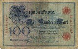 100 Mark ALLEMAGNE  1903 P.022 B+