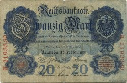 20 Mark ALLEMAGNE  1906 P.025b TB