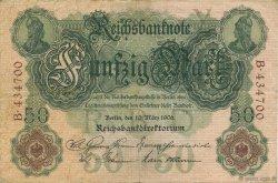 50 Mark ALLEMAGNE  1906 P.026a TTB