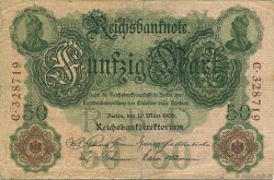 50 Mark ALLEMAGNE  1906 P.026a TB+