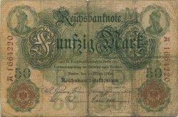 50 Mark ALLEMAGNE  1906 P.026b B+